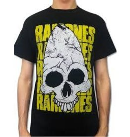 Ramones Yellow Font Big Skull Shirt