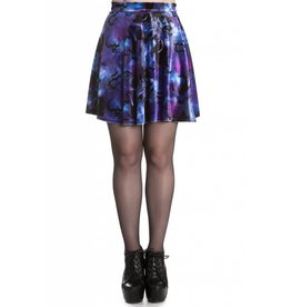 HELL BUNNY Orpheus Purple Skirt