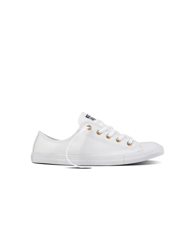 CONVERSE CHUCK TAYLOR DAINTY OX WHITE/WHITE/GOLD C740W-557969C