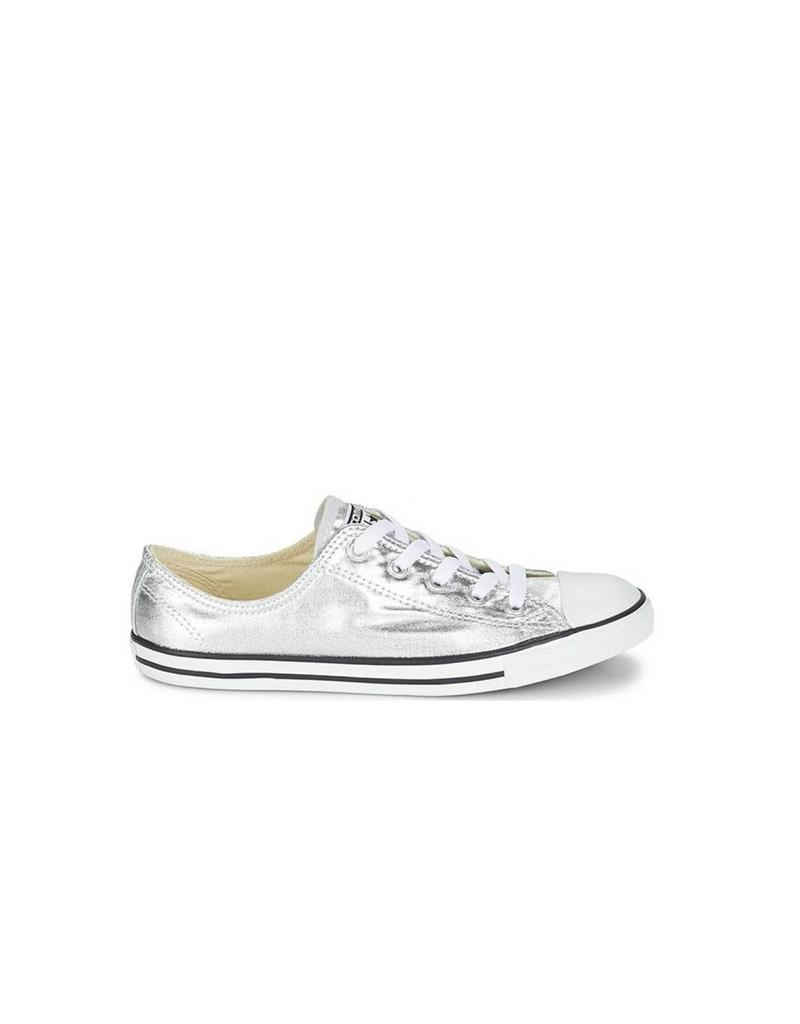 CONVERSE CHUCK TAYLOR DAINTY OX PURE SILVER/BLACK/WHITE C640DSIL-553462C