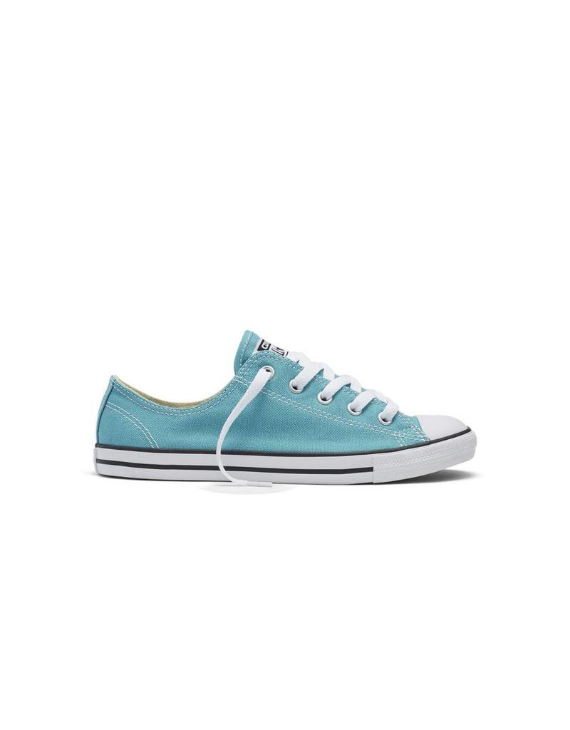 CONVERSE CHUCK TAYLOR DAINTY CANVAS COLOR OX AQUA/BLACK C640AQ-553372C