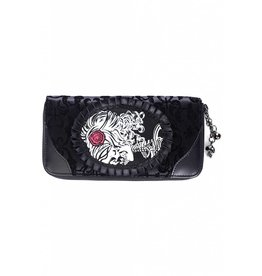 BANNED - Ivy Black Cameo Lady Lace Wallet