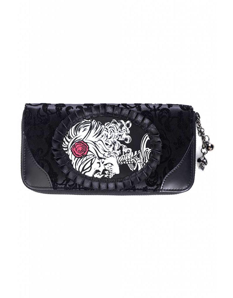 BANNED Banned Ivy Black Cameo Lady Lace Wallet