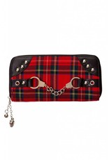 BANNED - Red Tartan Handcuff Wallet