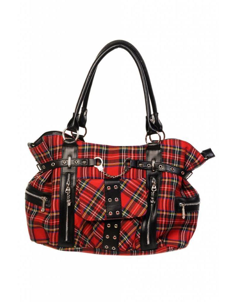 BANNED - Rise Up Tartan Bag