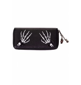 BANNED Banned Banned - Skeleton Hands + Bows Wallet