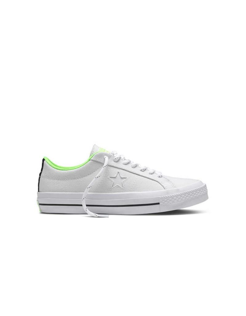 CONVERSE ONE STAR SHIELD CANVAS OX WHITE/VOLT C686VOL-153704C
