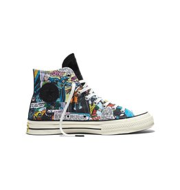 CONVERSE CHUCK TAYLOR 70 HI BLACK/FRESH YELLOW/EGRET C16BAT-155359C