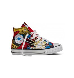 CONVERSE CHUCK TAYLOR HI WHITE RED SUPERMAN