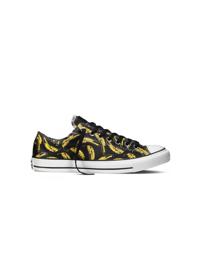 CONVERSE CHUCK TAYLOR WARHOL OX BLACK WHITE LEATHER C9VU-149536C