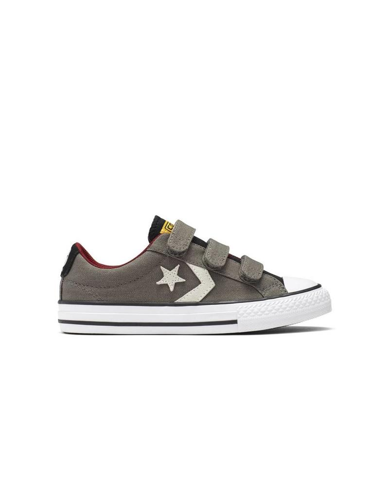 CONVERSE STAR PLAYER 3V OX CHARCOAL/WHITE/RED CVVC-654323C