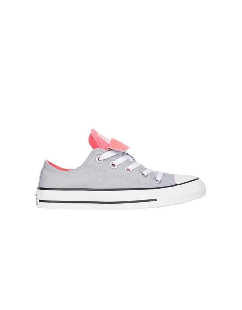 CONVERSE CHUCK TAYLOR DOUBLE TONGUE OX WOLF GREY/SUNBLUSH C11DTC-558581F