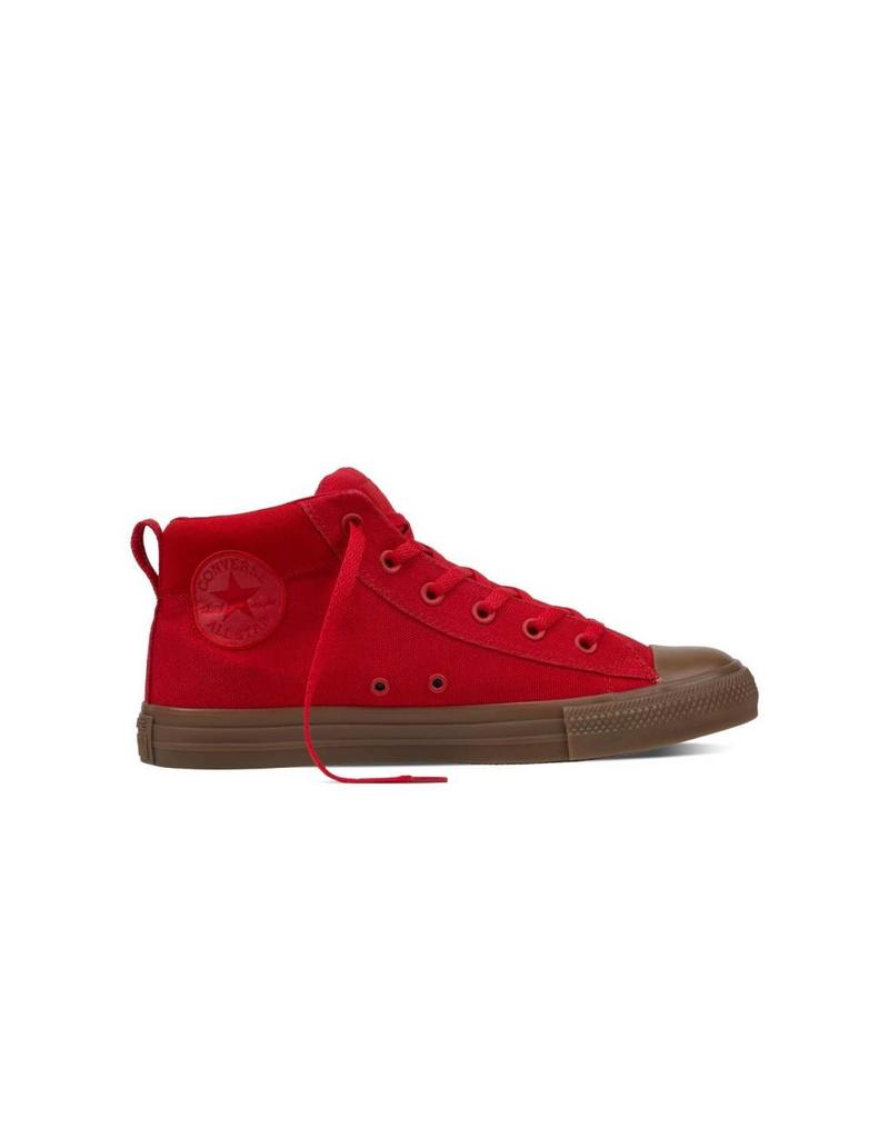 CONVERSE CHUCK TAYLOR STREET MID CASINO RED/DARK HONEY C798GR-155707C