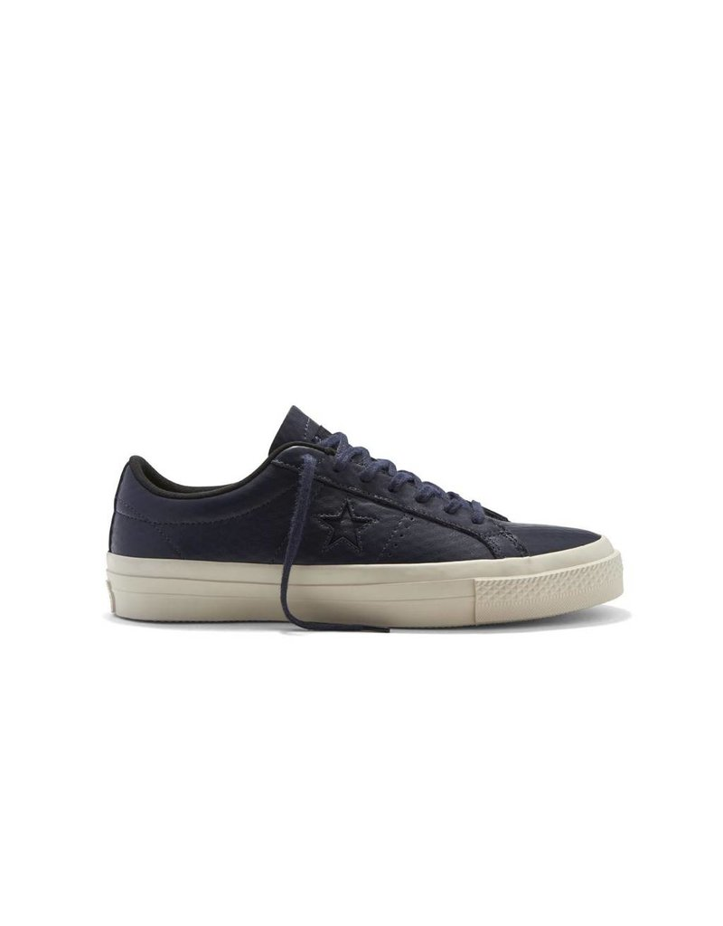CONVERSE ONE STAR LEATHER OX OBSIDIAN/BLACK CC686NO-153706C