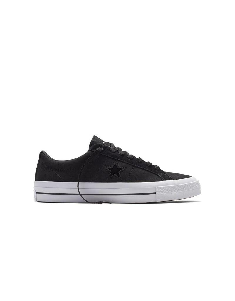 CONVERSE ONE STAR CANVAS OX BLACK/ALMOST BLACK C686BB-153710C