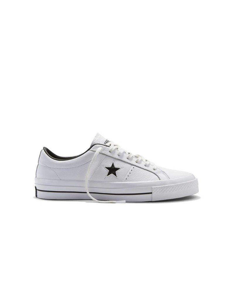 CONVERSE ONE STAR LEATHER OX WHITE/BLACK/WHITE CC686WO-153713C