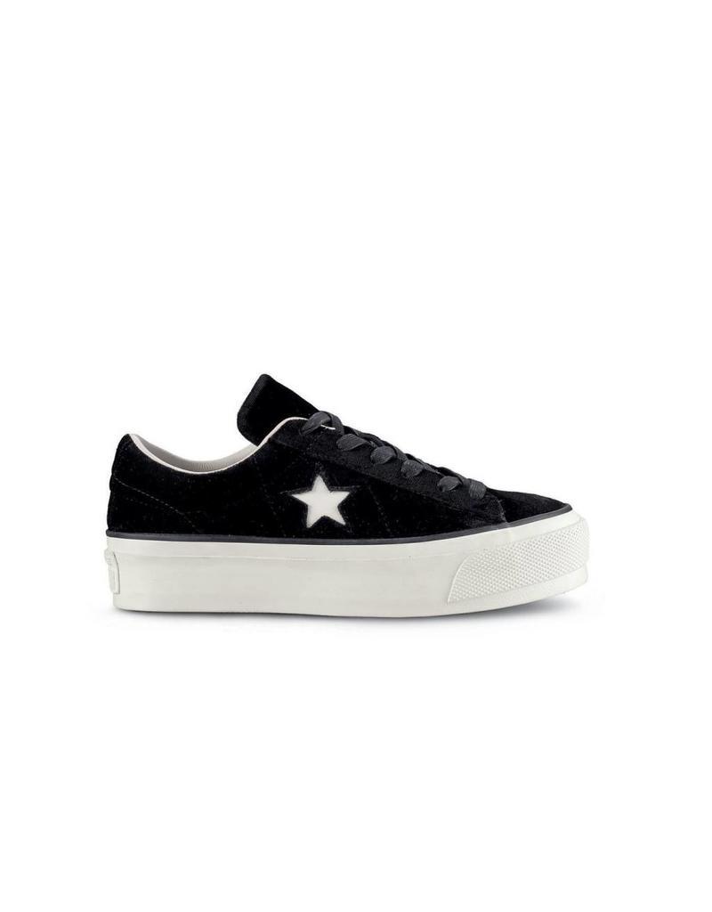 CONVERSE ONE STAR PLATFORM OX BLACK/EGRET/BLACK C787PFB-558950C