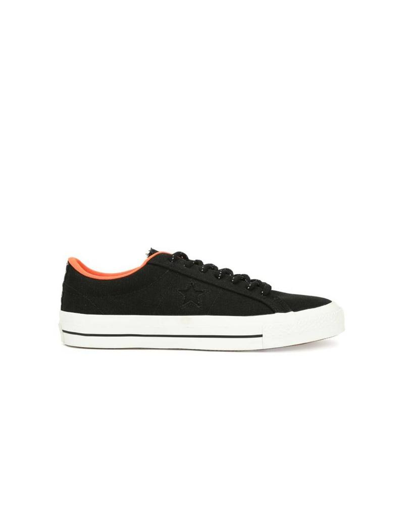 CONVERSE ONE STAR SHIELD CANVAS OX BLACK/LAVA C686OL-153703C