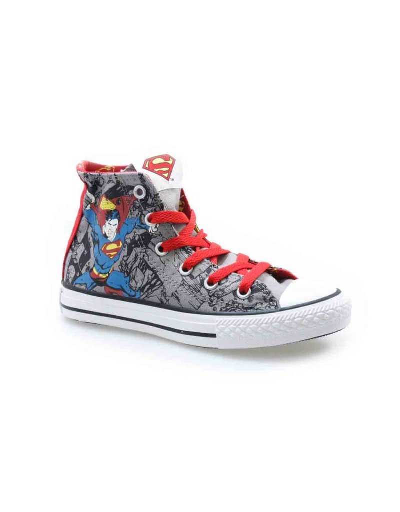 CONVERSE CHUCK TAYLOR ALL STAR HI GRAY RED SUPERMAN CFSPG-335286C