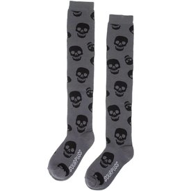 SOURPUSS - Grey Socks Black Skulls