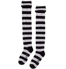SOURPUSS - Black/White Striped Socks