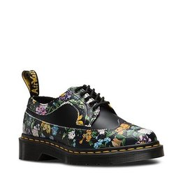 DR. MARTENS 3989 DF BLACK DARCY FLORAL BACKHAND+SMOOTH 500BFD-R22729001