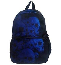 BANNED Banned Electric Blue Skulls BackPack