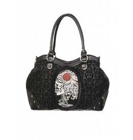 BANNED Banned Cameo Lady Rose Handbag
