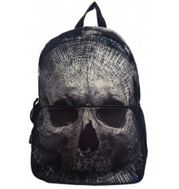 BANNED Banned Beige Skull BackPack