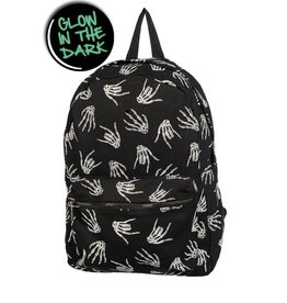 BANNED Banned Skeleton Hand BackPack Glow In The Dark