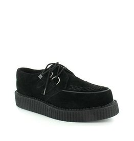 CREEPERS SUEDE BLACK DOUBLE SOLE T14B-A7270