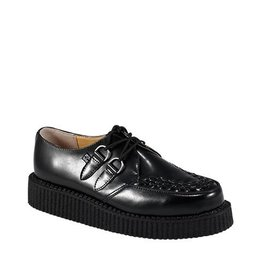 CREEPERS LEATHER BLACK DOUBLE SOLE TC13B-A6806