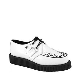 CREEPERS LEATHER WHITE/BLACK DOUBLE SOLE T9WD-A7269