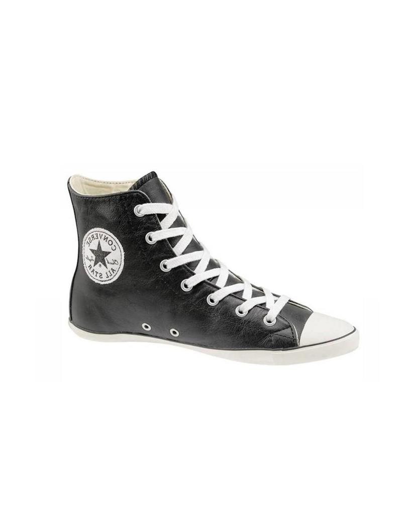 CONVERSE Chuck Taylor All Star LIGHT LEATHER HI BLACK CC8LB-505615