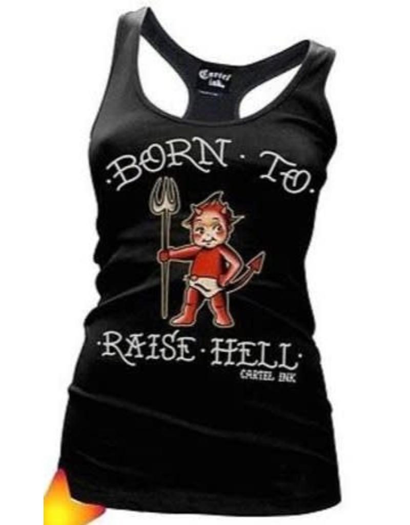 CARTEL INK CARTEL INK - Born To Raise Hell Racerback Tank