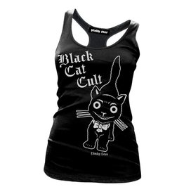 PINKY STAR - Black Cat Cult Racerback Tank