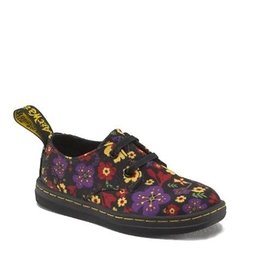 DR. MARTENS KACY INFANTS LACE BLACK GARDEN CANVAS