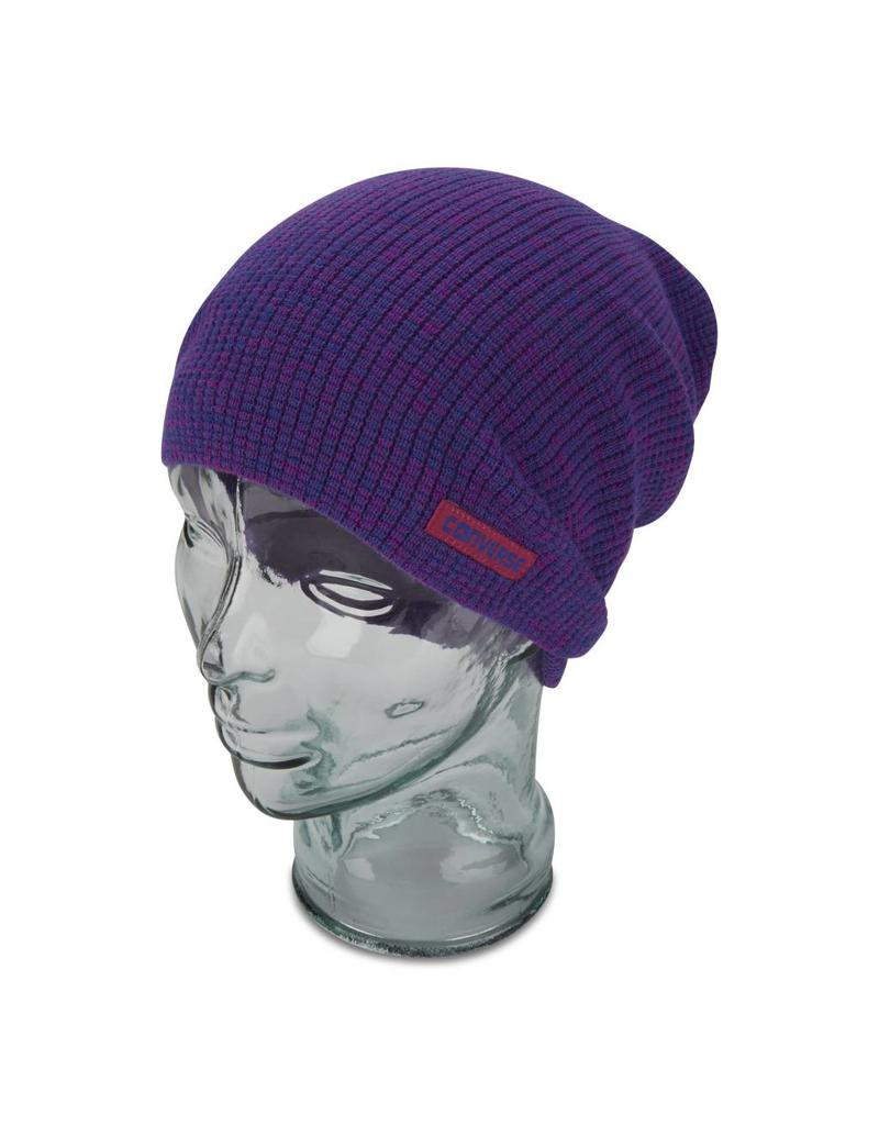 CONVERSE HAT TWISTED WAFFLE KNIT SLOUCH BEANIE CON208
