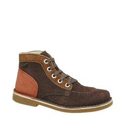 KICKERS LEGENDOKNEW DARK BROWN CAMEL ORANGE K1681MO