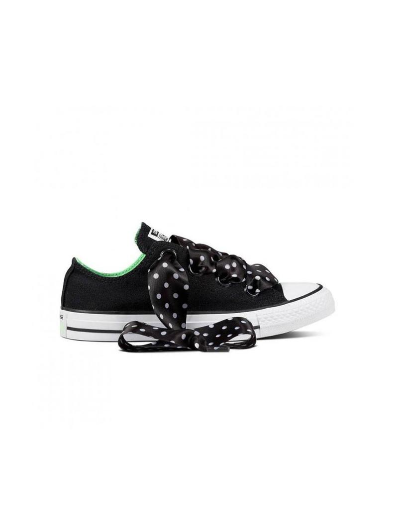 CONVERSE CHUCK TAYLOR BIG EYELETS OX BLACK/ILLUSION GREEN C12BIGB-560671C