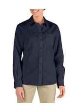 DICKIES Women`s Long Sleeve Work Shirt FL136