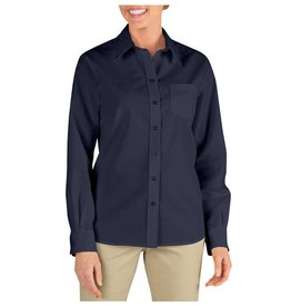 DICKIES Women`s Long Sleeve Work Shirt