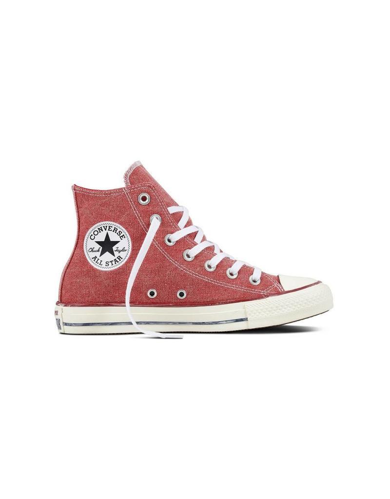 CONVERSE CHUCK TAYLOR HI ENAMEL RED/ENAMEL RED/WHITE C18VR-159538C