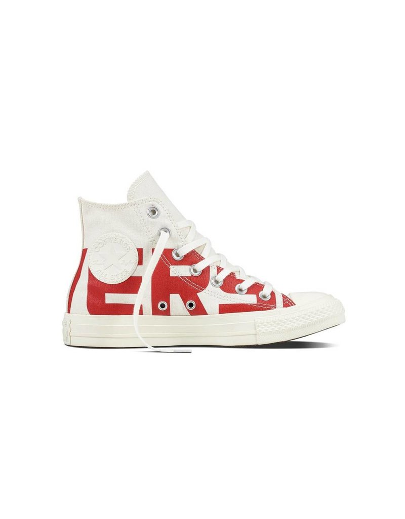 CONVERSE CHUCK TAYLOR HI NATURAL/ENAMEL RED/EGRET C18WE-159532C