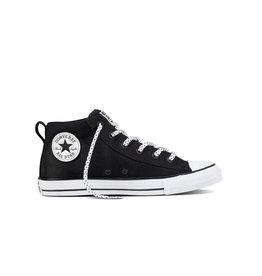 CONVERSE CHUCK TAYLOR STREET MID BLACK/BLACK/WHITE C898BW-159605C