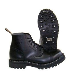 STEEL BOOT 6 EYELETS BLACK CAP S600B