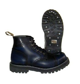 STEEL BOOT 6 EYELETS NAVY RUB OFF CAP S600N