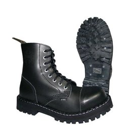 STEEL BOOT 8 EYELETS BLACK CAP S800B