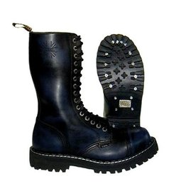 STEEL BOOT 15 EYELETS NAVY RUB OFF CAP S1500N