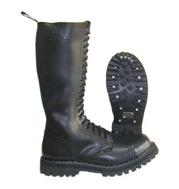 STEEL BOOT 20 EYELETS BLACK CAP S2000B